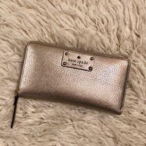 Kate Spade Wellesley Neda Zip Wallet Rose Gold